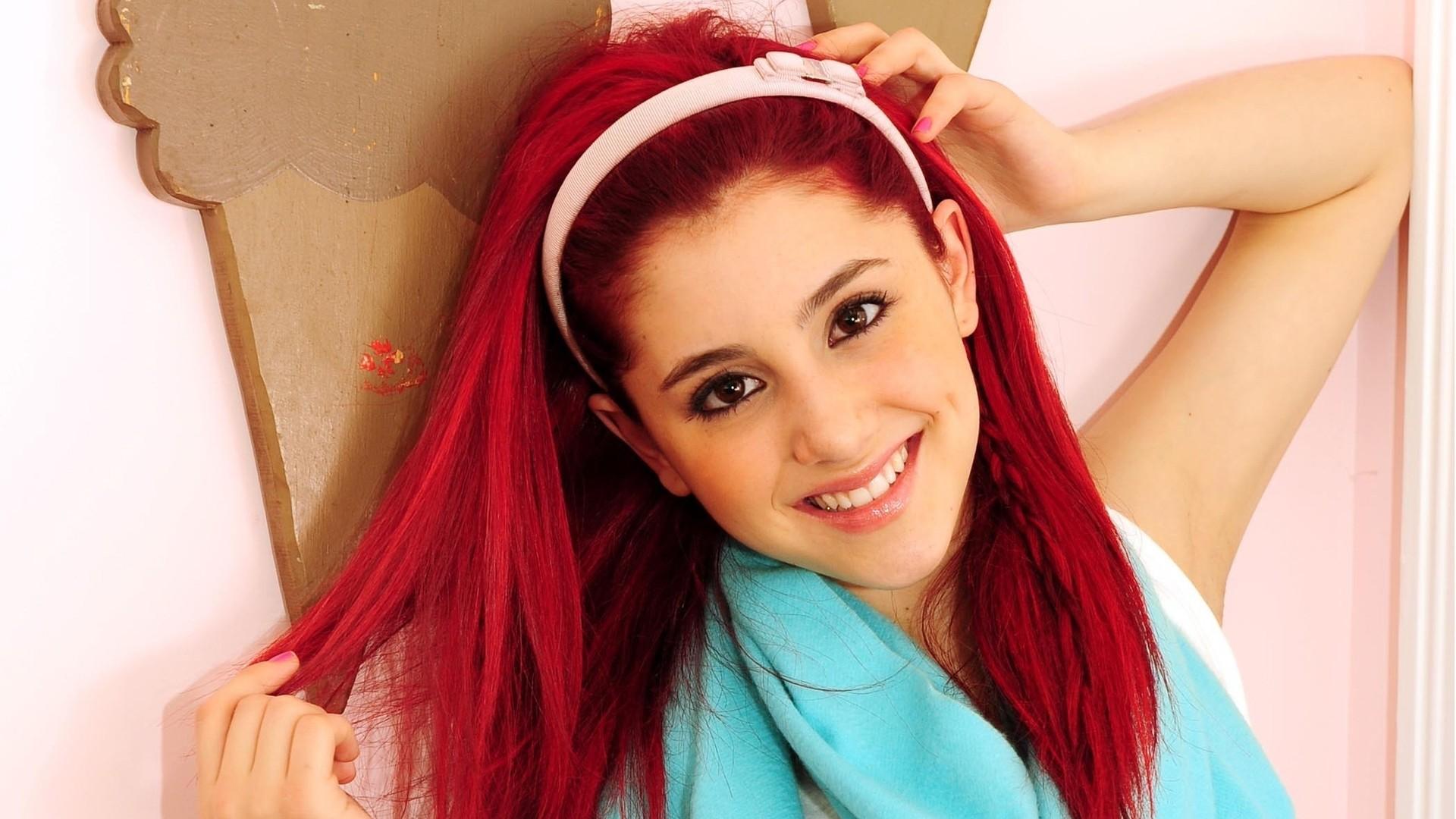 Ariana Grande Red Hair Hd Wallpaper