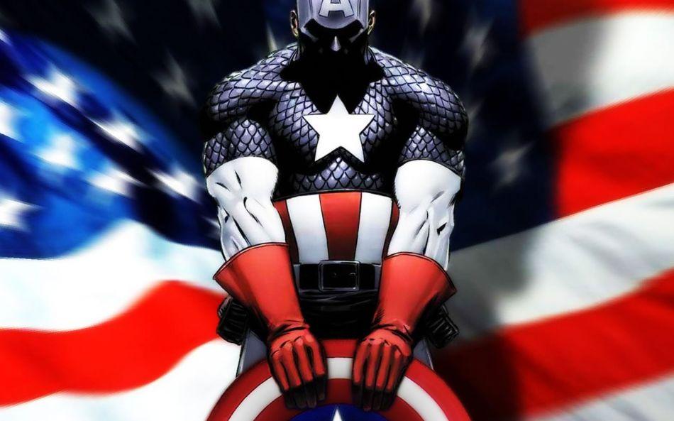 Captain America American Flag Hd Wallpaper 1920x1200 Gludy