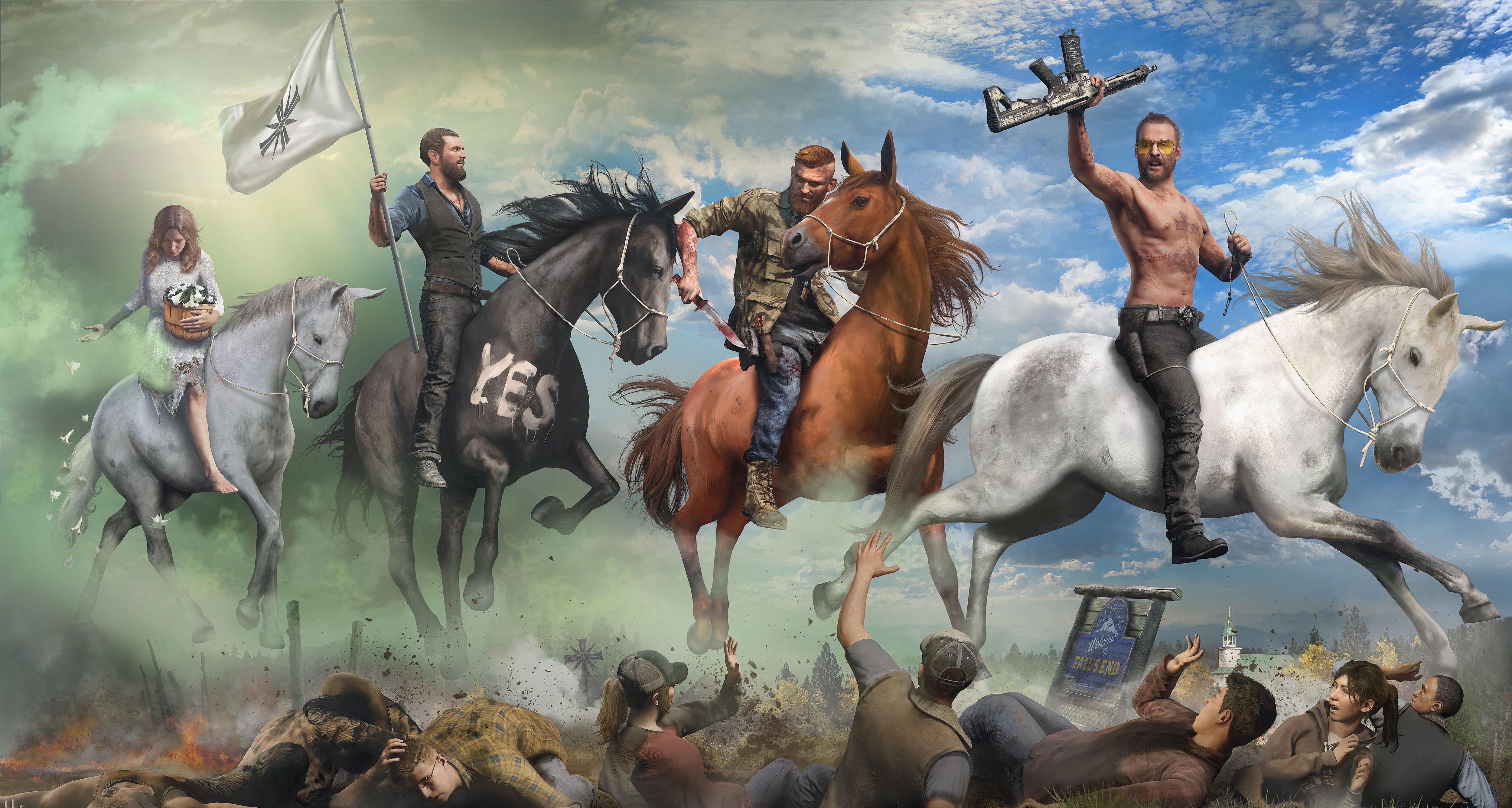 Far Cry 5 Horse Poster Hd Wallpaper 5000x2672 Gludy