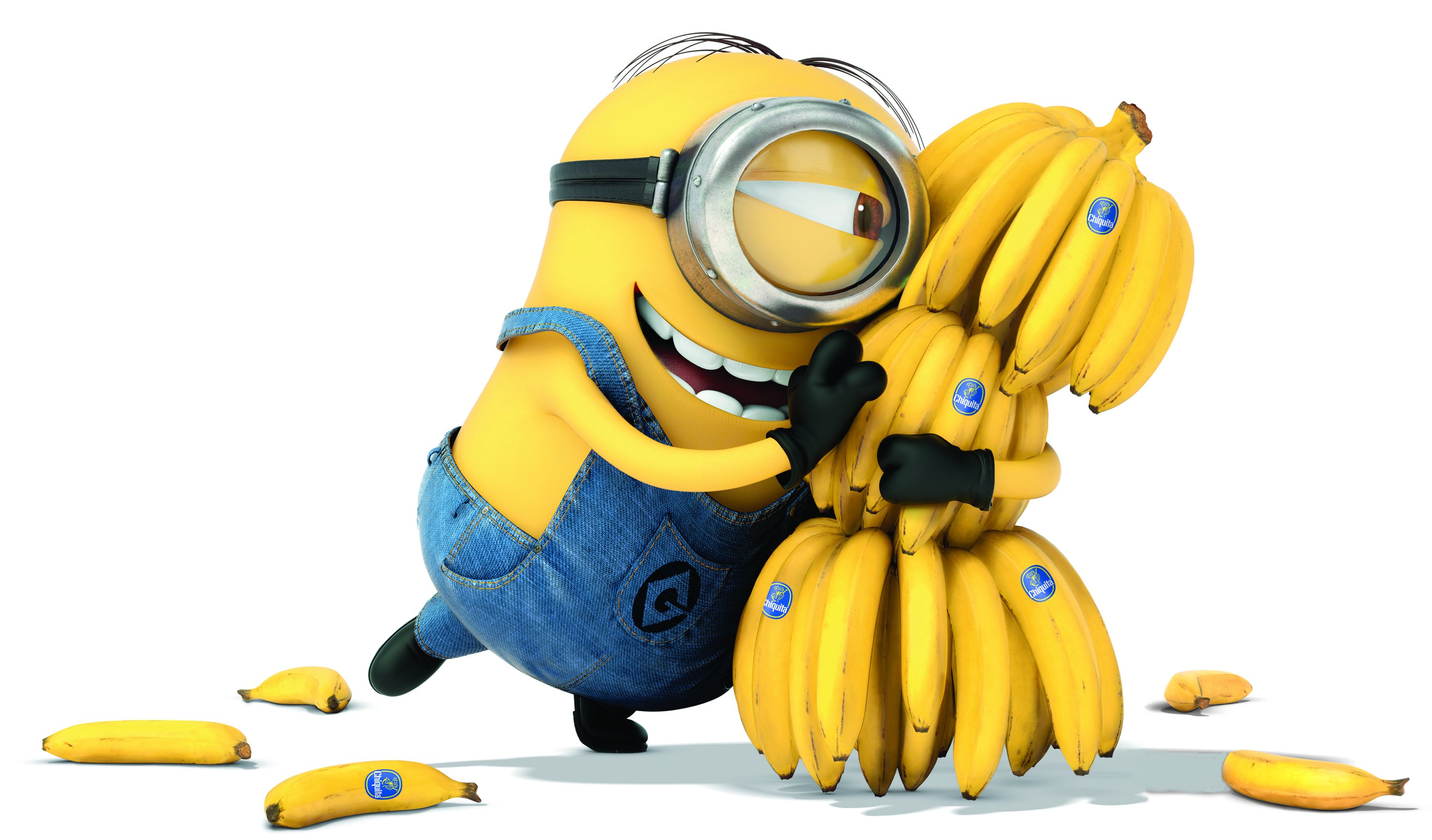 minions tons of banana hd wallpaper | 3000x1760 | gludy
