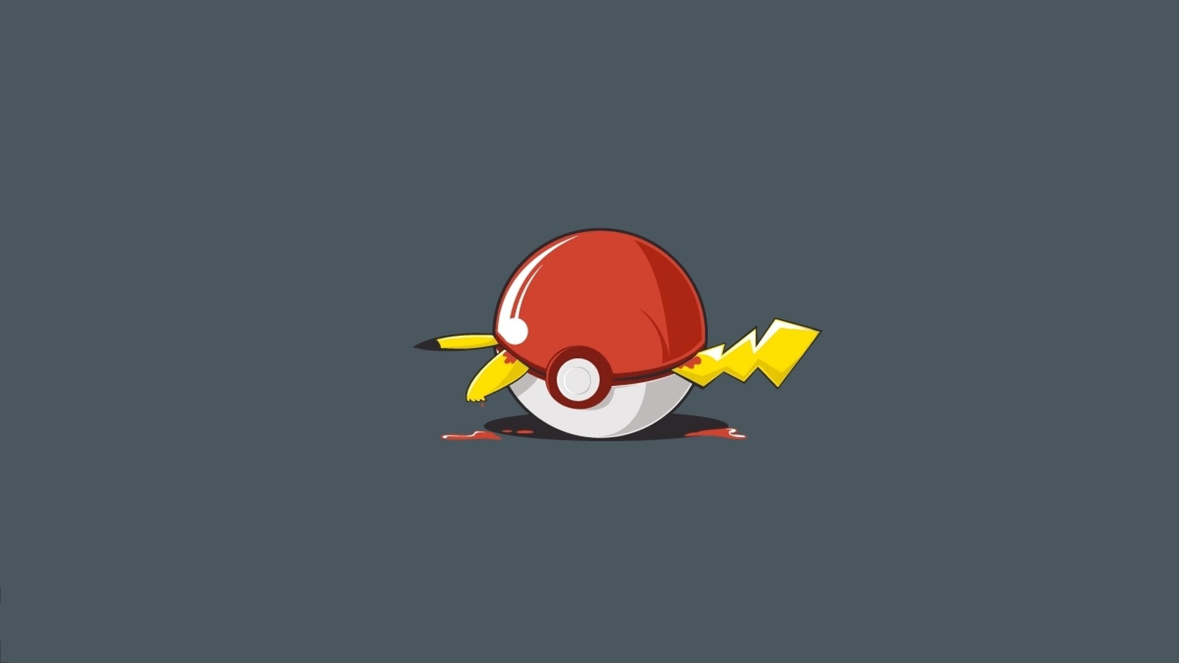 Pikachu Pokeball Hd Wallpaper 3840x2160 Gludy