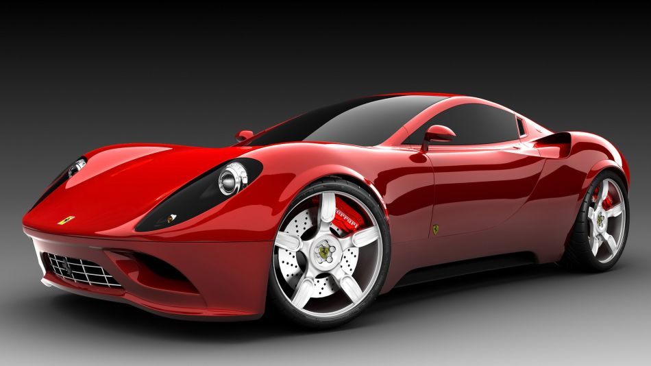 Red ferrari car concept