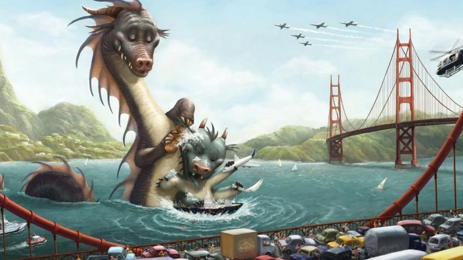 Sea monsters in san francisco river