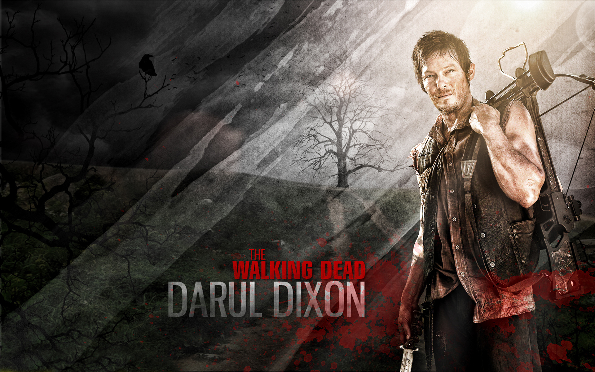 the walking dead darul dixon hd wallpaper | 1920x1200 | gludy