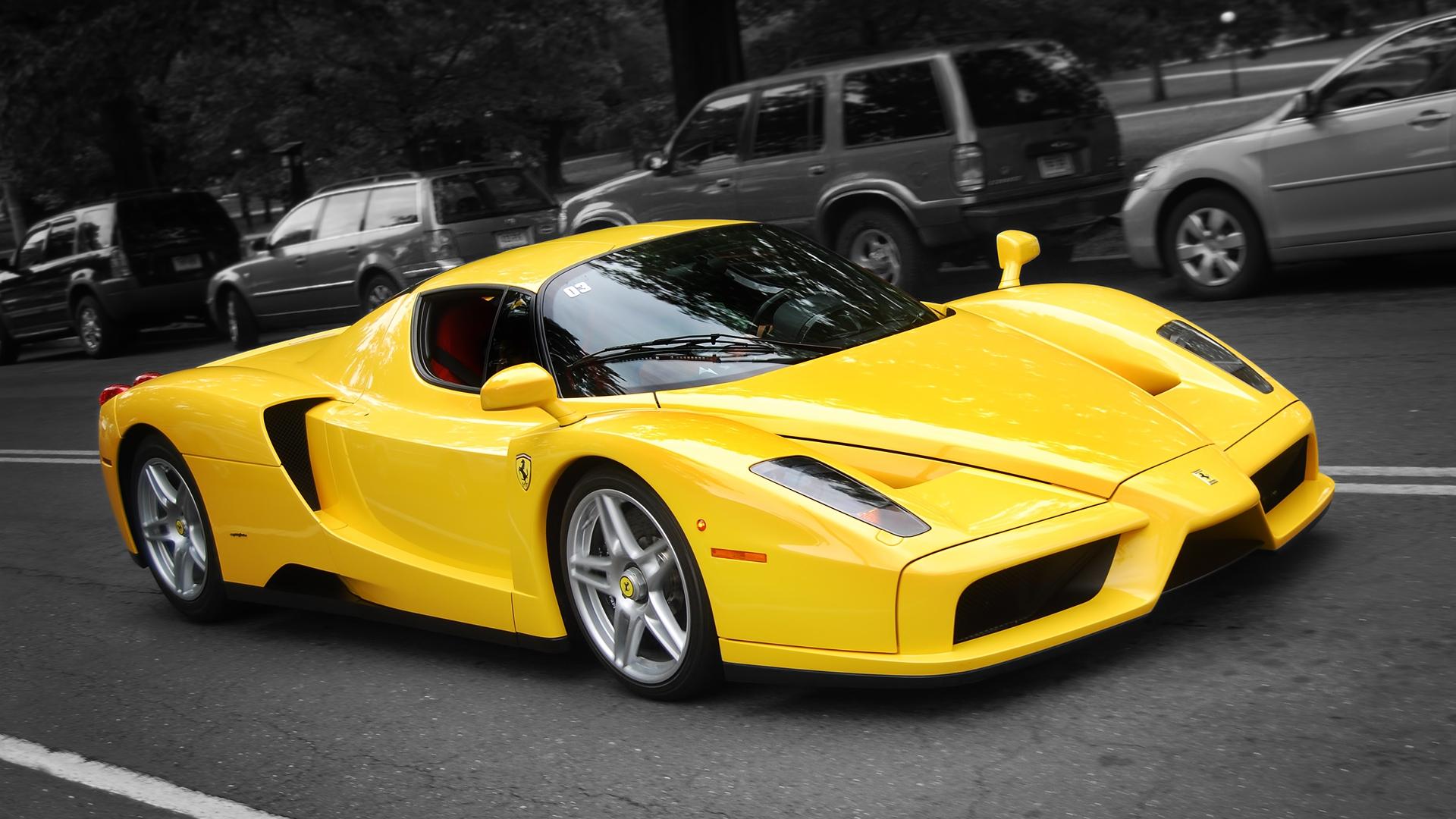 Yellow Enzo Ferrari Hd Wallpaper 1920x1080 Gludy