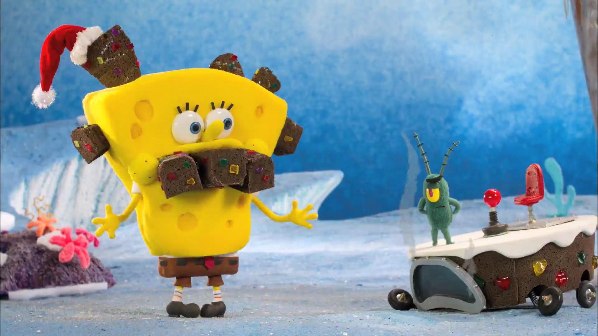 christmas spongebob wallpaper