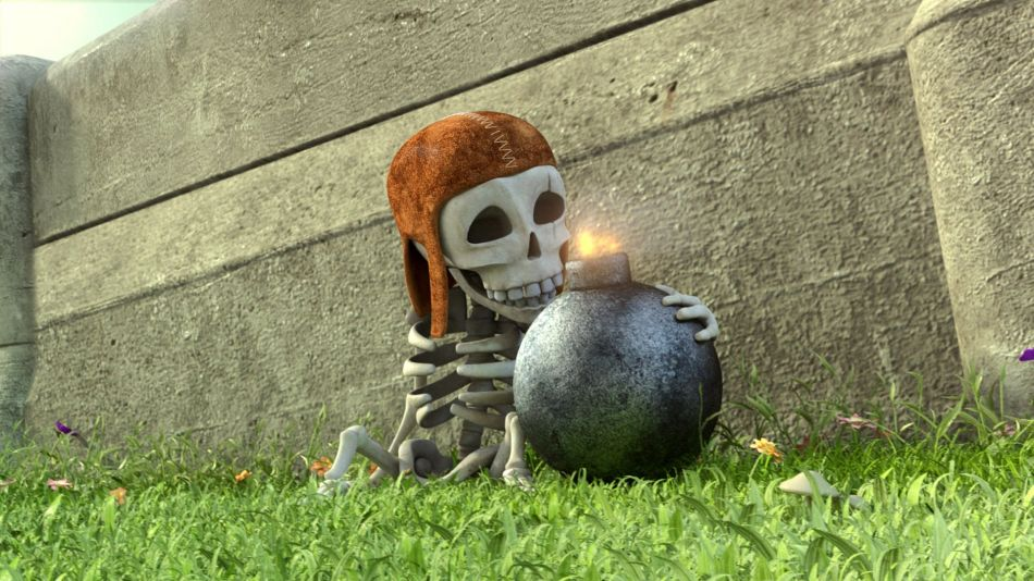 clash of clan skeleton