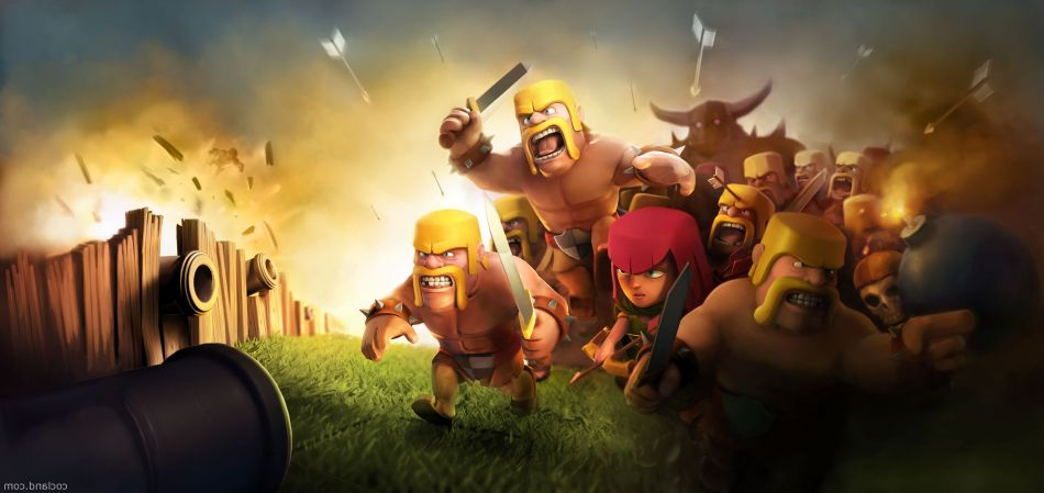 clash of clans wide