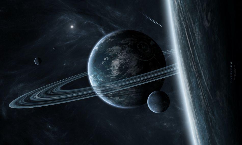 Interstellar Saturn Hd Wallpaper
