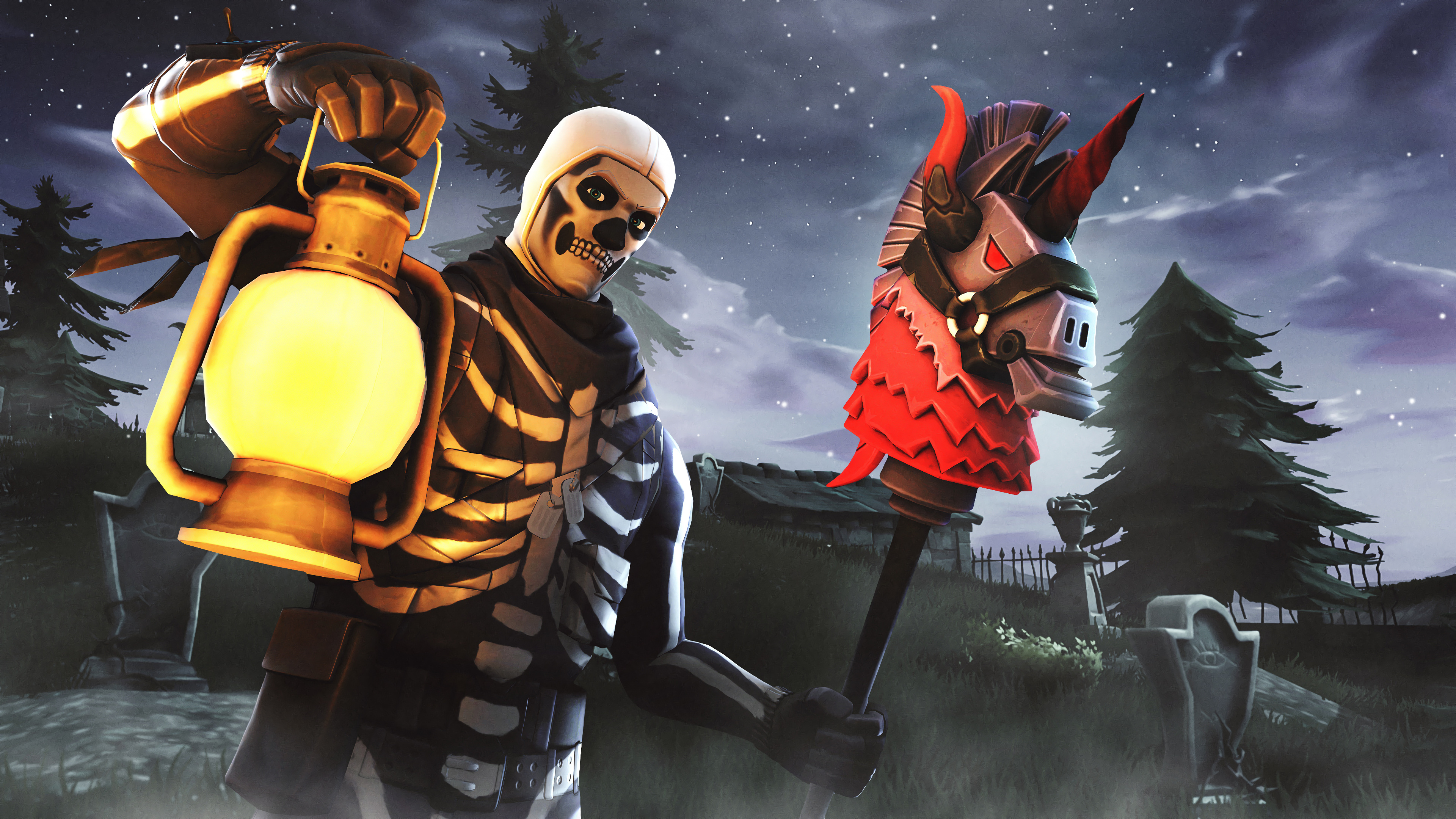 Skull Trooper Fortnite Hd Wallpaper 3840x2160 Gludy